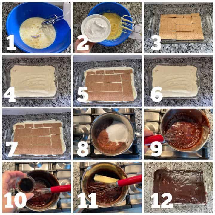steps to make chocolate eclair cake