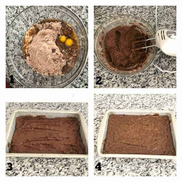 step by step process pictures of how to make brownies
