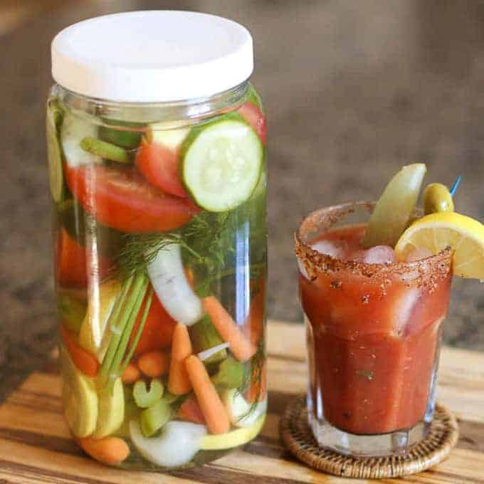 Bloody Mary Vodka Infusion