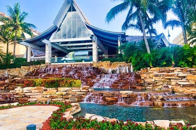 Front view of the Marco Island Marriott Beach Resort